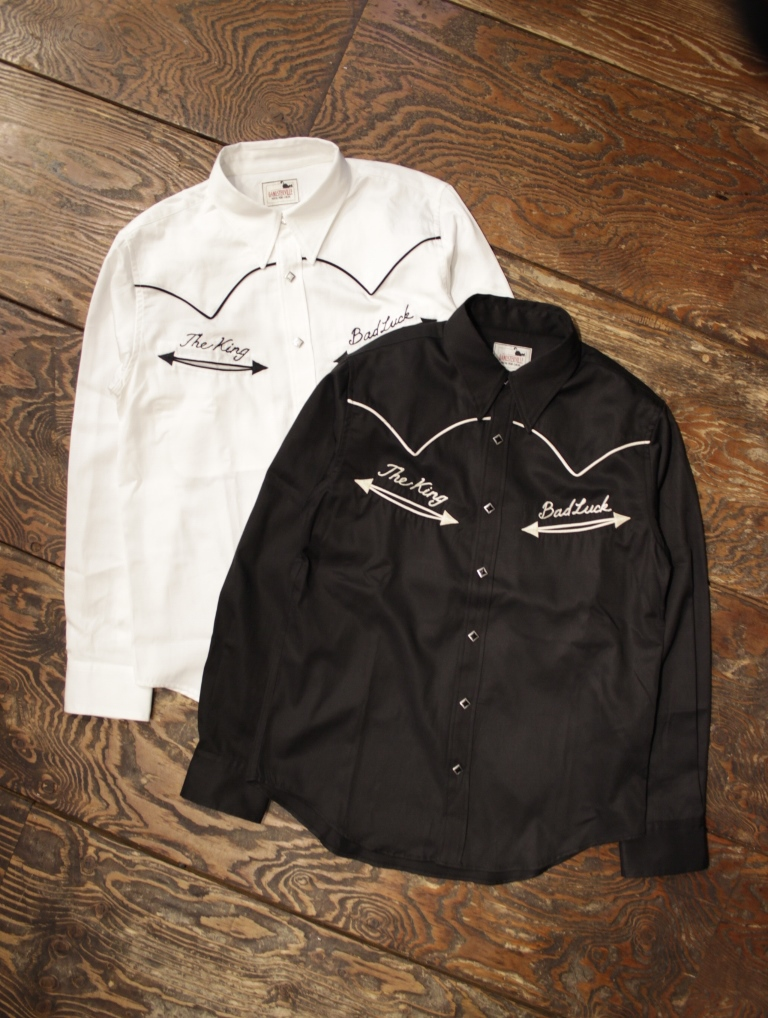 GANGSTERVILLE   「BAD LUCK - L/S SHIRTS」   ウエスタンシャツ
