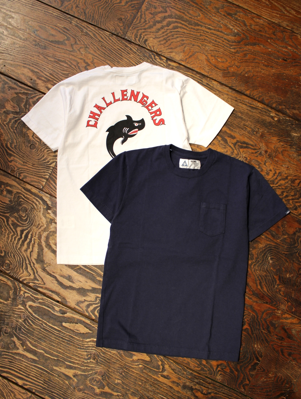 CHALLENGER  「SHARK TEE」 プリントポケットティーシャツ