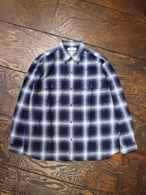 RADIALL  「MACKTEN - REGULAR COLLARED SHIRT L/S」  レギュラーカラーチェックシャツ