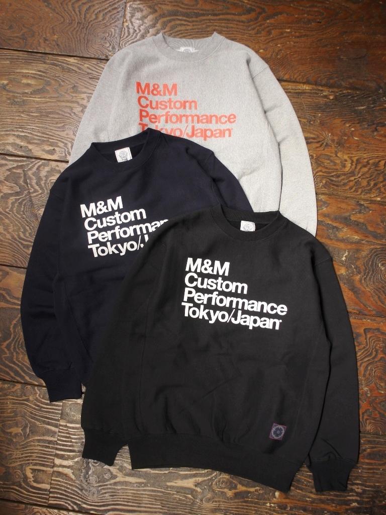 【12月22日発売!】 M&M CUSTOM PERFORMANCE   「 PRINT SWEAT 」 プリントクルーネックスウェット