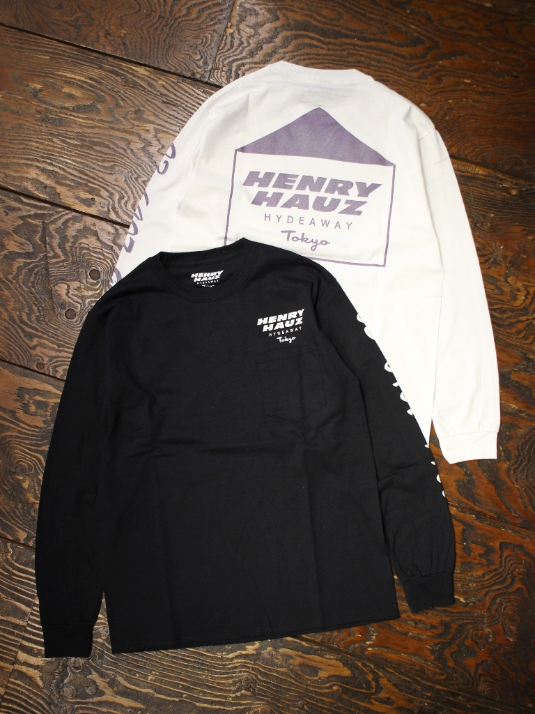 【NEW YEAR ITEM !!】 HENRY HAUZ  「 HH LOGO LS  」 プリントロンティー