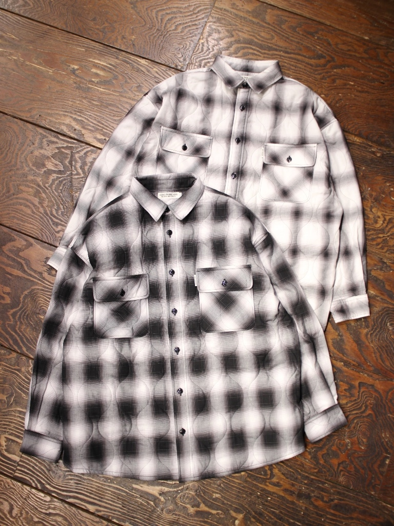 COOTIE  「 Ombre Check Quilting CPO Jacket 」 キルティングCPOジャケット