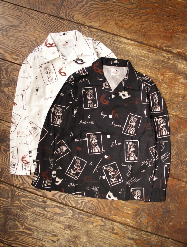 GANGSTERVILLE  「 THE QUEEN - L/S SHIRTS」  オープンカラーシャツ