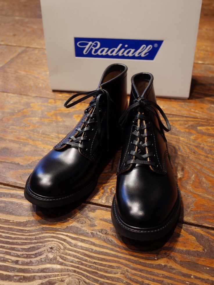 RADIALL  「ANCHOR BOOTS STEER HIDE <BLACK>」 レースアップブーツ