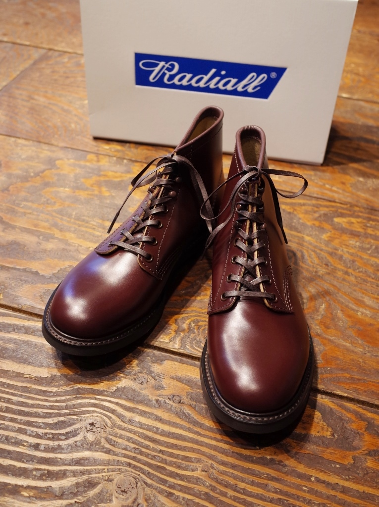 RADIALL  「ANCHOR BOOTS STEER HIDE <BROWN>」 レースアップブーツ