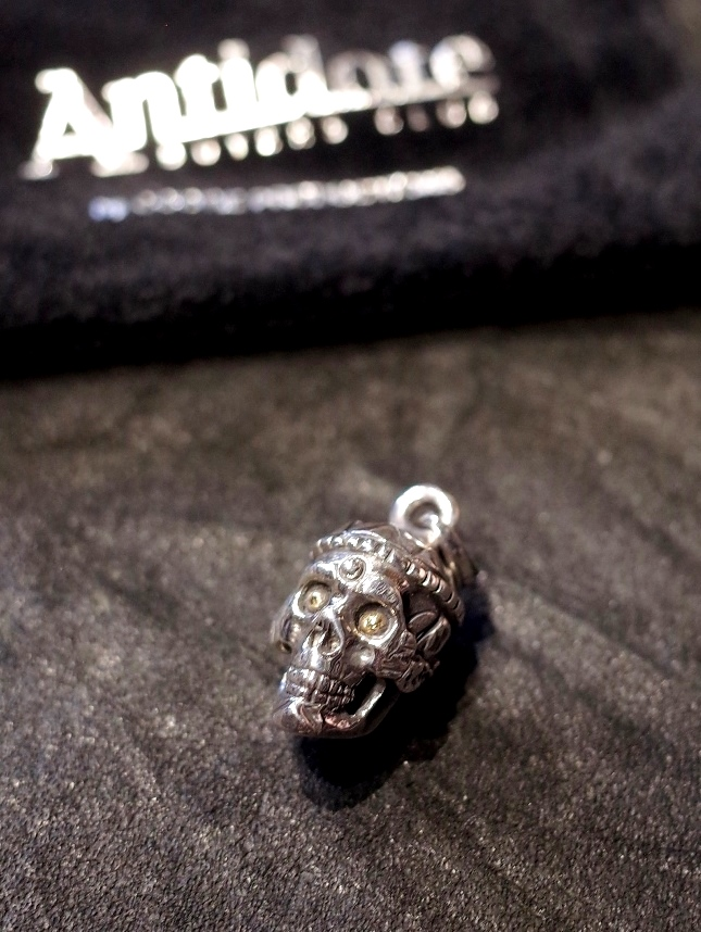 ANTIDOTE BUYERS CLUB by Cootie Productions   「 Tibetan Skull Pendant 」 SILVER950製 ペンダントトップ