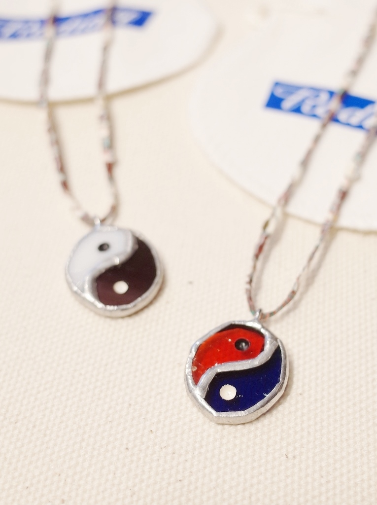 RADIALL × NEW TRAD Glass Art   「YIN YANG STAINED GLASS NECKLACE」  ステンドグラス ネックレス