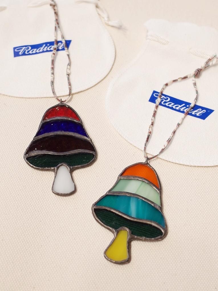 RADIALL × NEW TRAD Glass Art   「MUSHROOM STAINED GLASS ORNAMENT」  ステンドグラス オーナメント