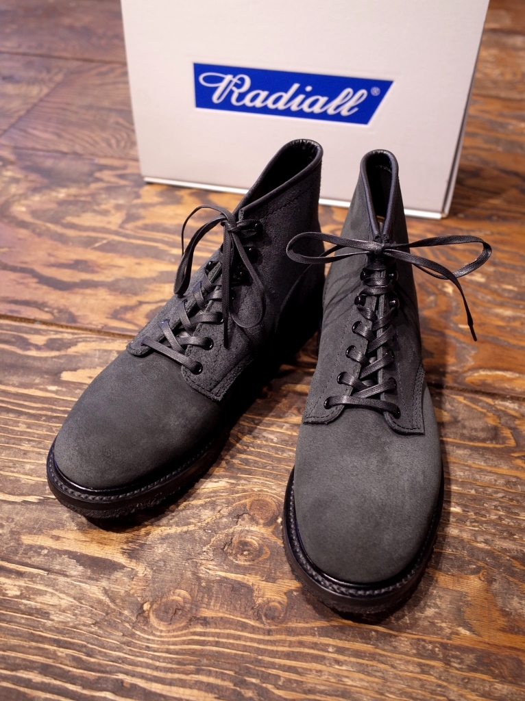 RADIALL  「ANCHOR BOOTS ROUGH OUT <BLACK>」 レースアップブーツ