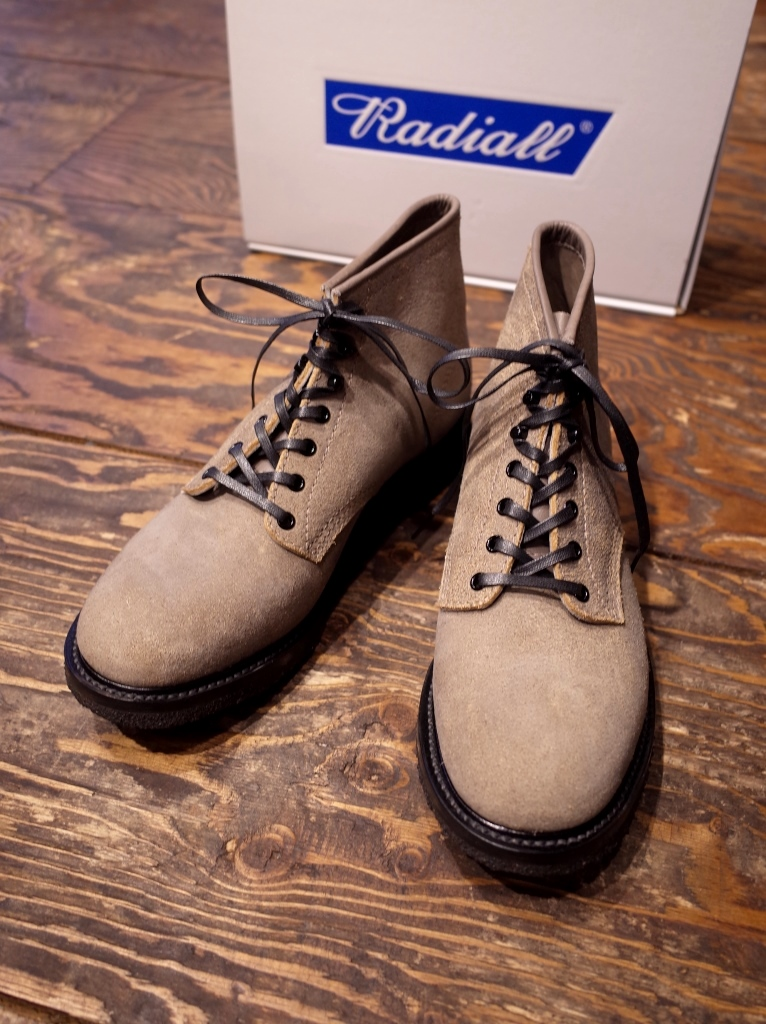RADIALL  「ANCHOR BOOTS ROUGH OUT <BEIGE>」 レースアップブーツ