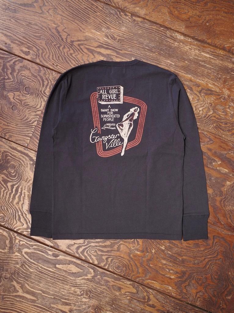 GANGSTERVILLE  「THE REVUE - L/S HENLEY T-SHIRT」  ポケットヘンリーネックティーシャツ
