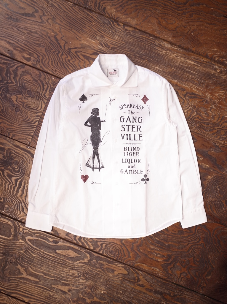 GANGSTERVILLE   「SPEAKEASY - L/S SHIRT」 ブロードシャツ