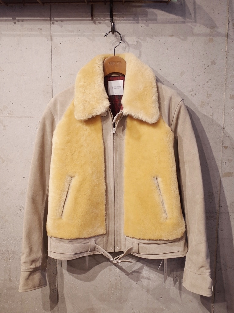 RADIALL  「NOTORIOUS GRIZZLY JACKET 〈IVORY〉 」 グリズリージャケット