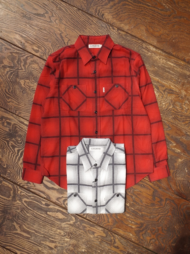 COOTIE  「Ombre Check Work Shirt」 オンブレチェックワークシャツ