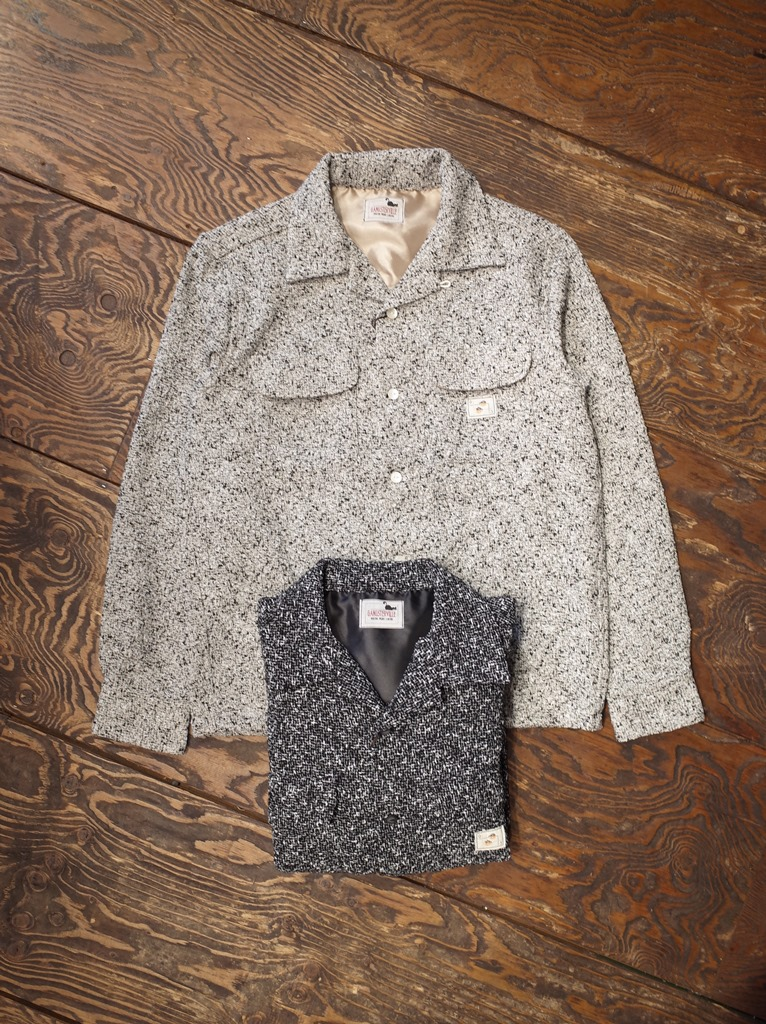 GANGSTERVILLE  「TWO FACE - L/S SHIRTS」  ネップツイードオープンカラーシャツ