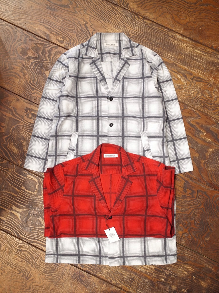 COOTIE  「Ombre Check Dropped Shoulder Coat」 オンブレチェック ドロップショルダーコート