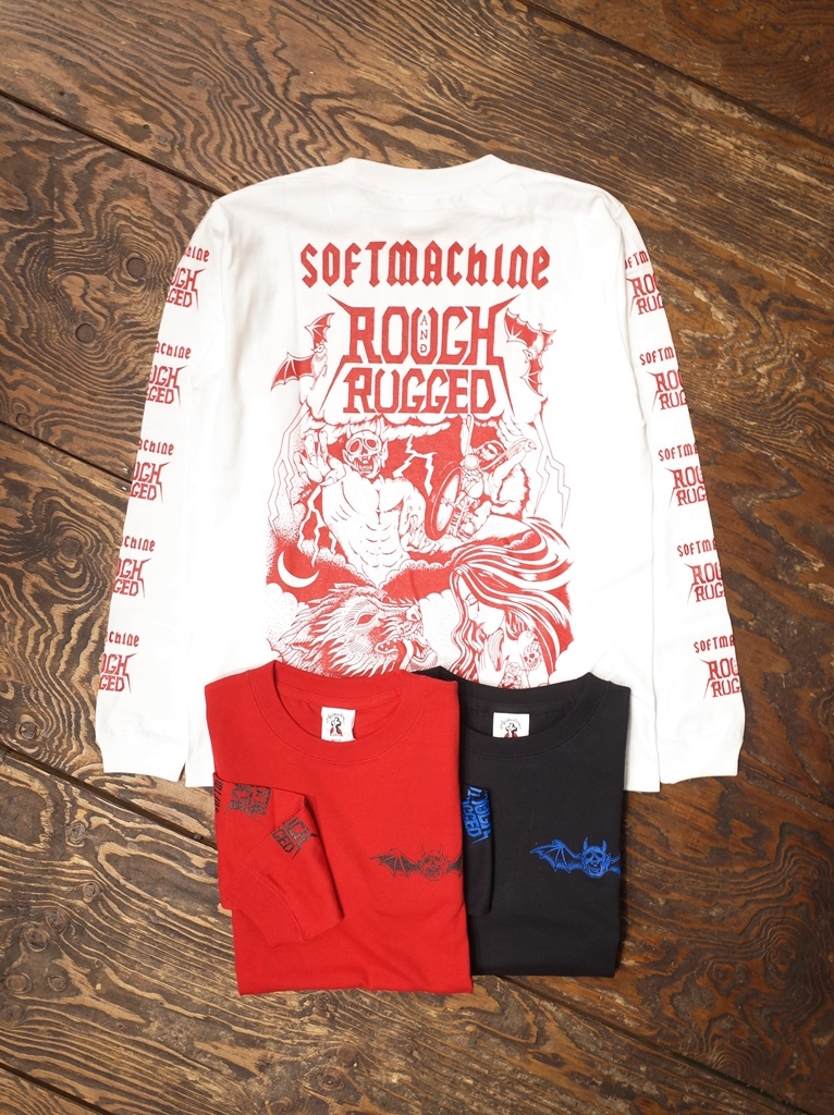 SOFTMACHINE× ROUGH AND RUGGED  「HELL RIDE L/S」 ロングスリーブティーシャツ