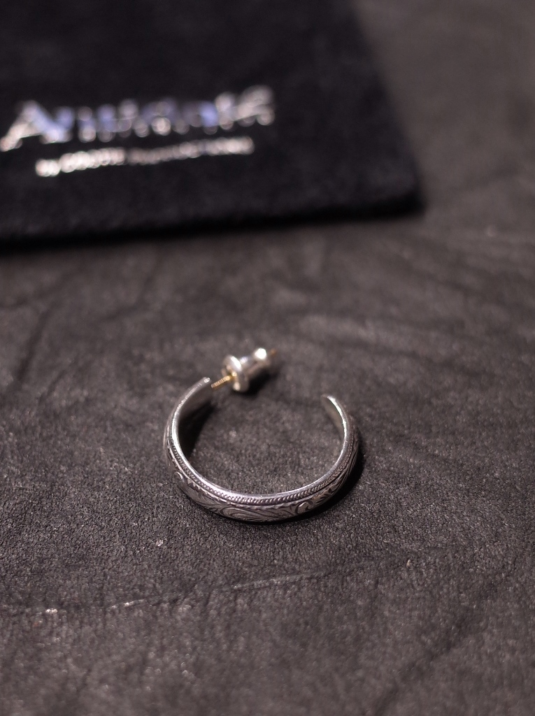 ANTIDOTE BUYERS CLUB by Cootie Productions  「Engraved  Hoop Earring 」 SILVER950製 ピアス