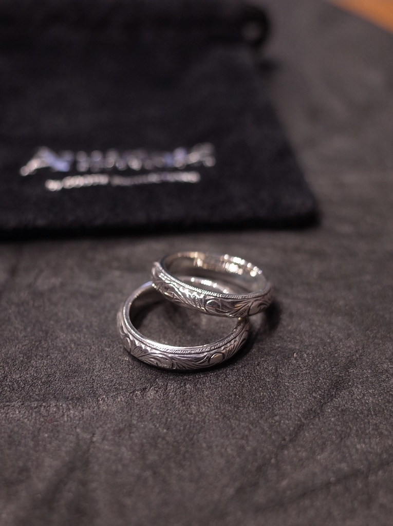 ANTIDOTE BUYERS CLUB by Cootie Productions  「 Engraved Pinky Ring 」 SILVER950製 ピンキーリング