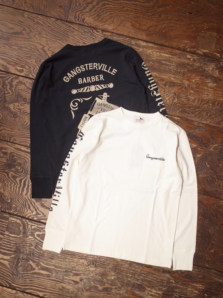 GANGSTERVILLE  「TATTOO PARLOR - L/S T-SHIRT」  ポケットロングスリーブティーシャツ
