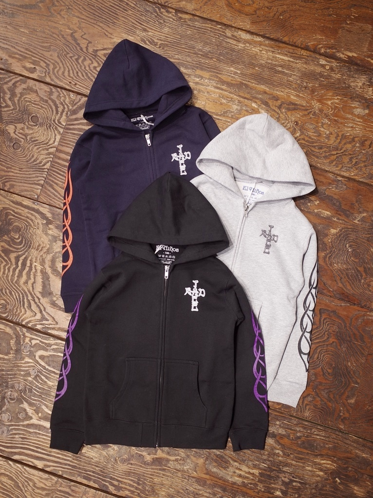 RADIALL 「FLAMES - KID'S ZIP UP PARKA」 キッズジップアップパーカー