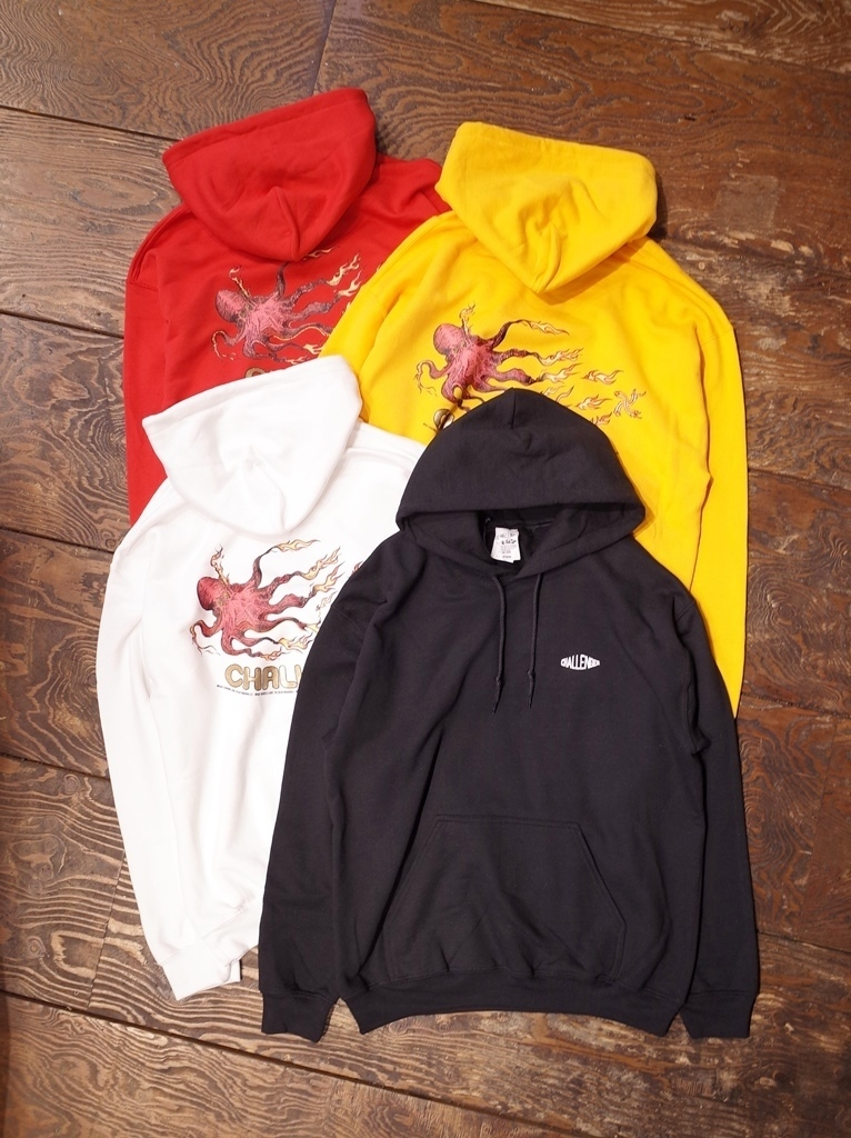 【NEW YEAR LIMITED ITEM !! 】 CHALLENGER  「FIRE HOODIE」 プルオーバーパーカー