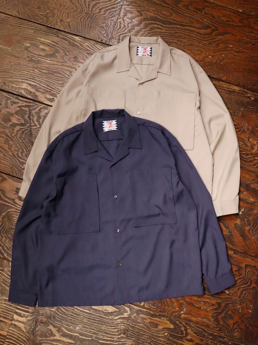 SON OF THE CHEESE  「 BOX POCKET L/S 」 オープンカラーシャツ