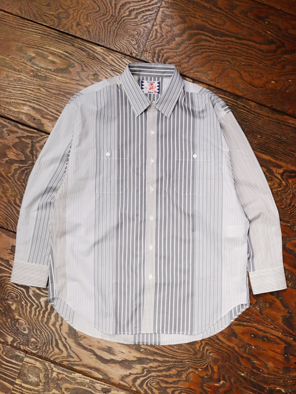 SON OF THE CHEESE  「 Alt Stripe Shirt 」 ストライプシャツ