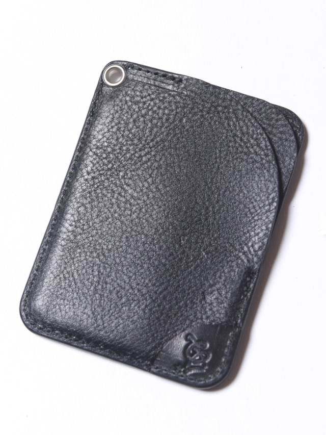 CALEE  「CAL LOGO EMBOSSING LEATHER CARD CASE」 レザーカードケース