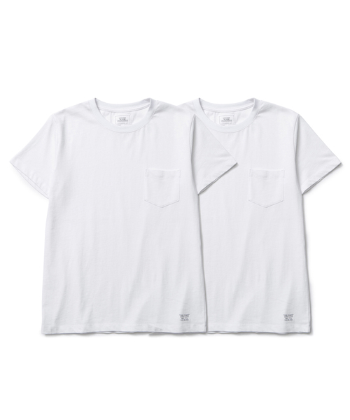 CRIMIE  「2P-PACK PREMIUM CREW NECK POCKET T-SHIRT」 2枚組ポケットティーシャツ