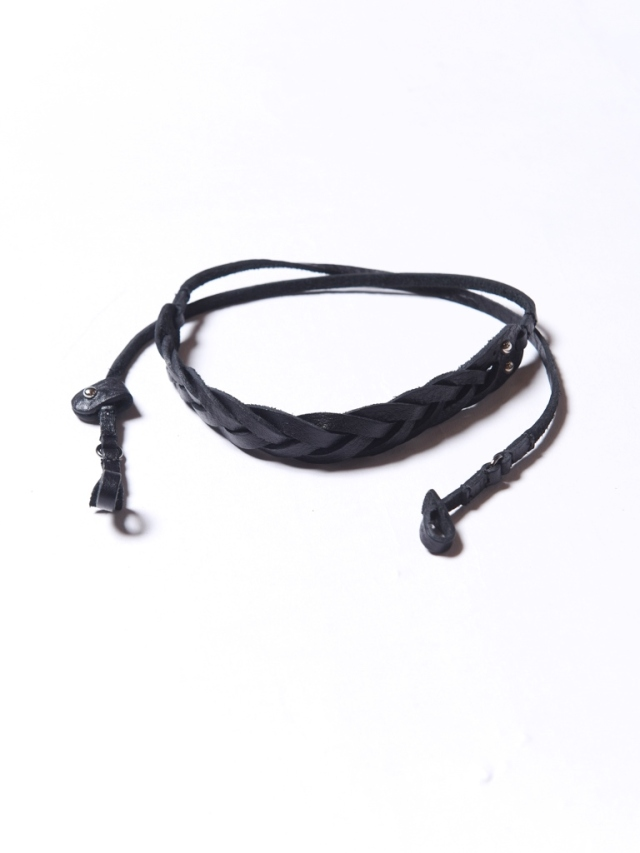 CALEE   「KNITTING LEATHER  GLASS CORD」  レザー サングラスコード