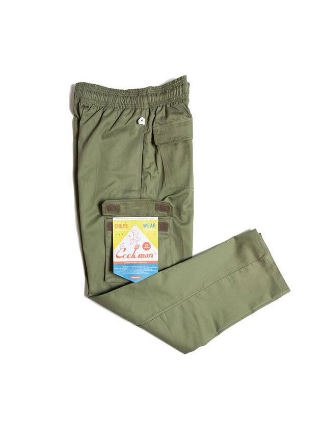 COOKMAN 「Chef Cargo Pants Khaki」 シェフパンツ