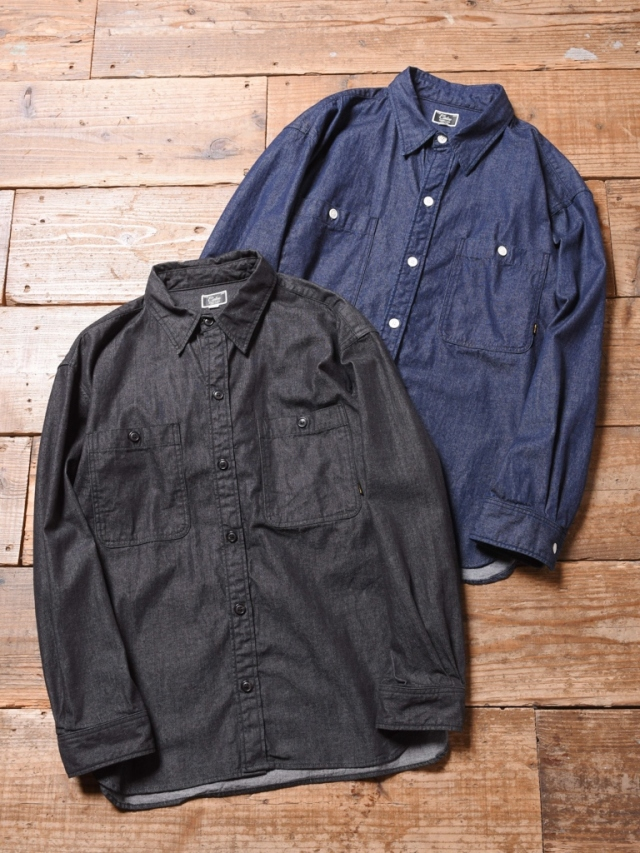 CALEE  「 BIG SIZE  L/S DENIM SHIRT 」  ビッグサイズ デニムシャツ