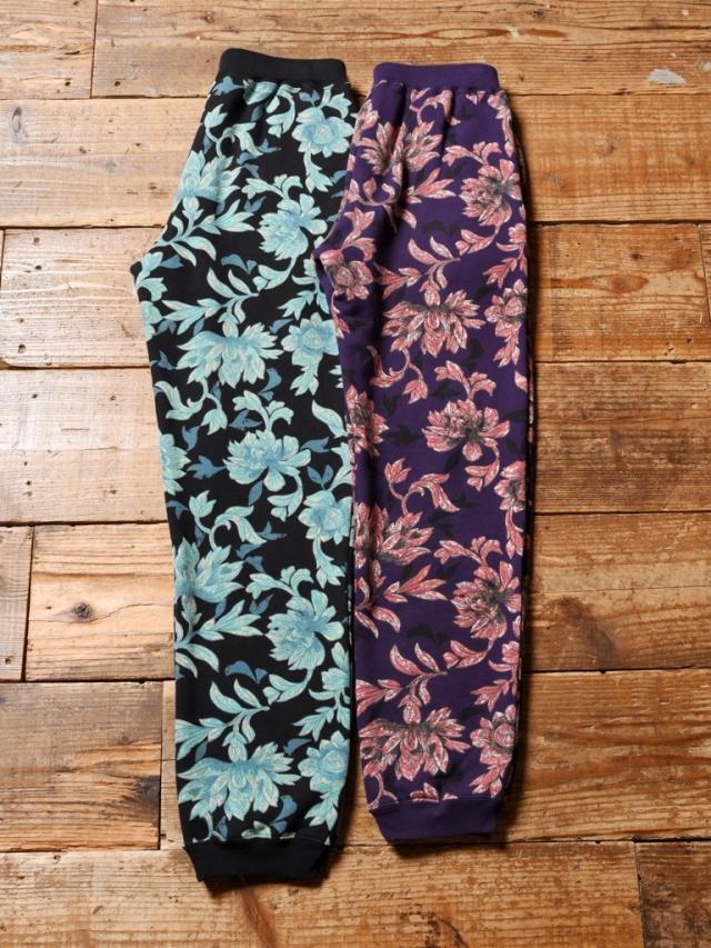 CALEE  「ALLOVER FLOWER PATTERN SWEAT PANTS」 スウェットパンツ