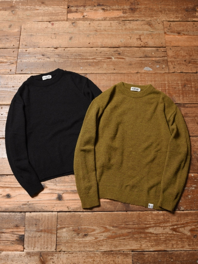 CALEE  「7 GAUGE CREW NECK BOUCLE KNIT SWEATER」  クルーネックニットセーター