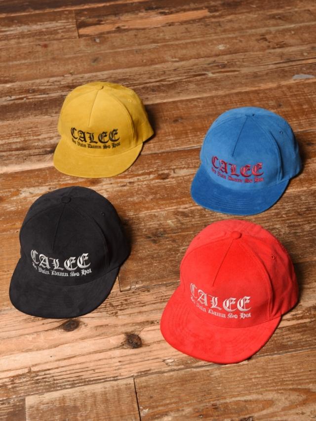 CALEE   「EMBROIDERY CORDUROY CAP」  コーデュロイキャップ