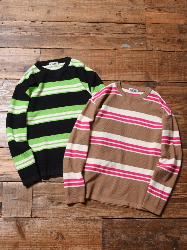 CALEE  「L/S BORDER KNIT SWEATER」 ボーダーニットセーター