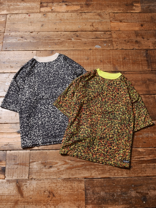 CALEE  「DROP SHOULDER ALLOVER PATTERN S/S CUTSEW」 ドロップショルダー総柄カットソー
