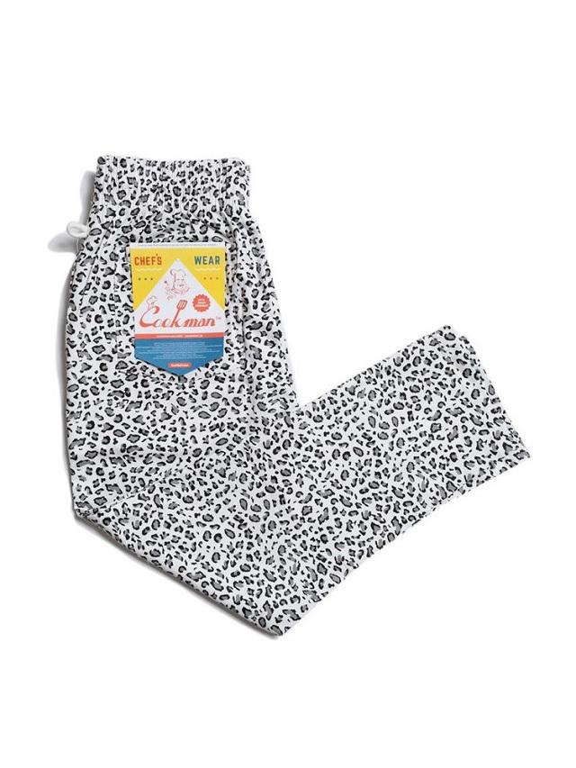 COOKMAN 「Chef Pants Snow Leopard」 シェフパンツ
