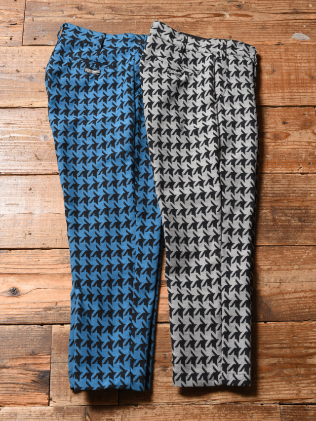 CALEE   「HOUND TOOTH PATTERN TUCK TROUSERS」  テーパードトラウザー
