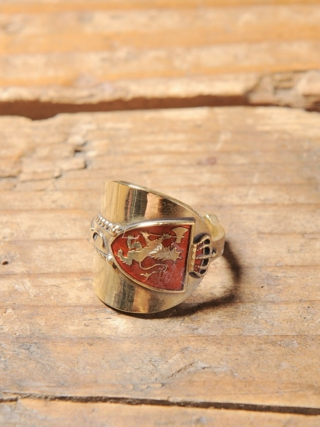 CALEE  「SPOON RING 〈BRASS〉」 BRASS製 スプーンリング