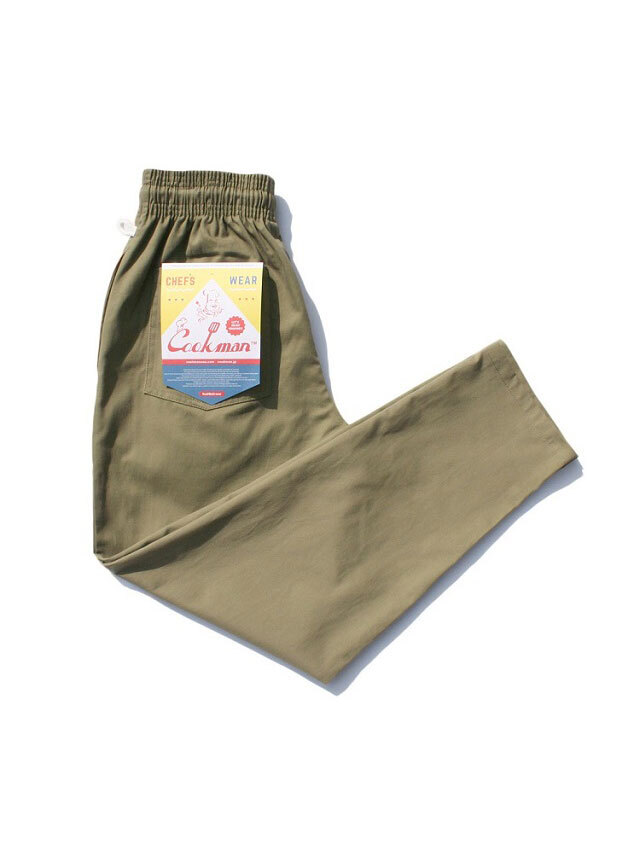 COOKMAN 「Chef Pants Khaki」 シェフパンツ