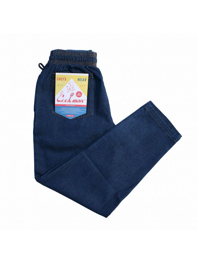 COOKMAN 「Chef Pants Denim Navy」 シェフパンツ