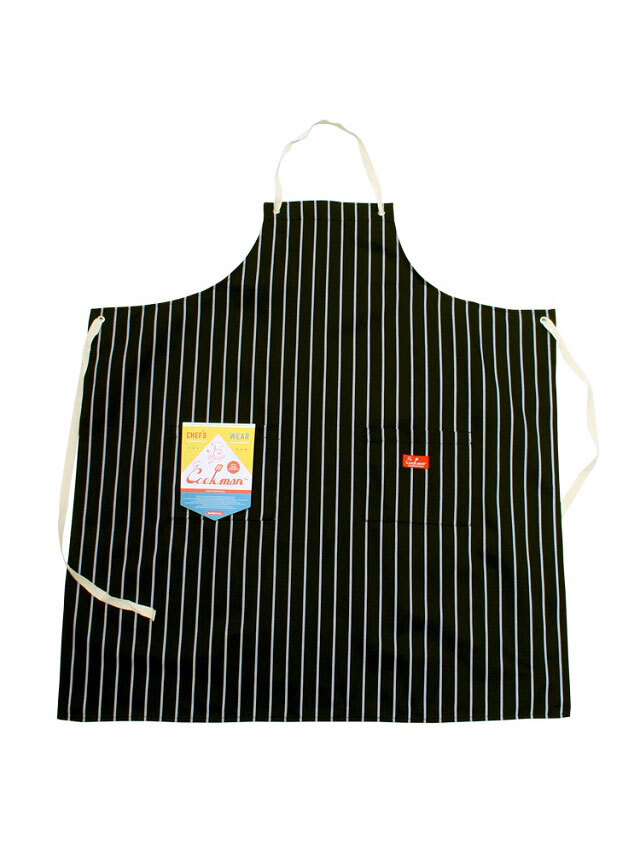 COOKMAN 「Long Apron Stripe T/C Black」 エプロン