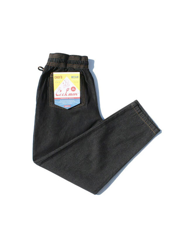 COOKMAN 「Chef Pants Denim Black」 シェフパンツ
