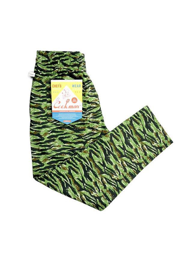 COOKMAN 「Chef Pants Ripstop Camo Green (Tiger) 」 シェフパンツ