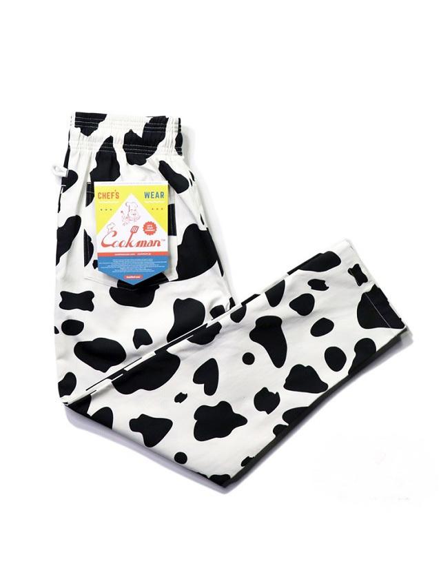 COOKMAN 「Chef Pants Cow」 シェフパンツ