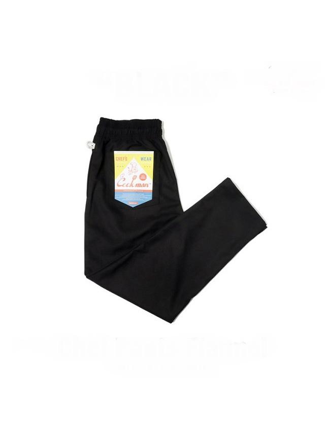 COOKMAN 「Chef Pants Flannel Black」 フランネル シェフパンツ