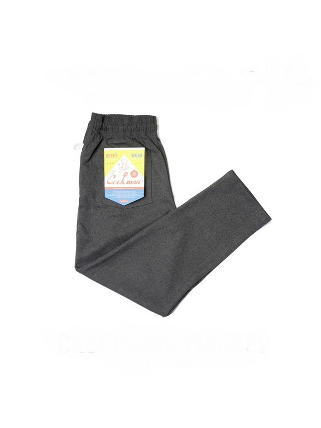 COOKMAN 「Chef Pants Flannel Charcoal」 フランネル シェフパンツ