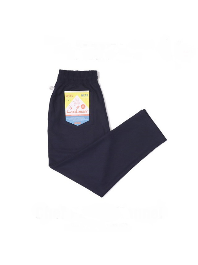 COOKMAN 「Chef Pants Flannel Navy」 フランネル シェフパンツ